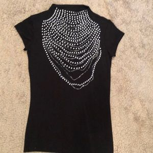 Tops - Black night out top with sparkly studs